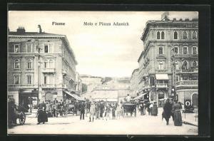AK Fiume, Molo e Piazza Adamich