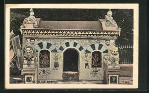 AK Nepal, A Curio of Nepalese Art, nepalesischer Schrein