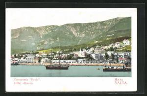 AK Yalta, Teilansicht mit Hotel Russie