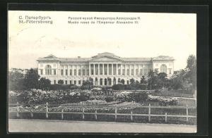 AK St. Pétersbourg, Musée russe de l`empereur Alexandre III.