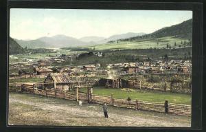 AK Tcherga, Blick auf das Dorf am Altai