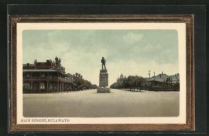 AK Bulawayo, Main Street mit Denkmal