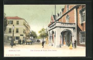 Künstler-AK Gibraltar, the Convent & South Port Street