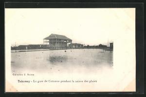AK Cotonou, La gare de pendant la saison des pluies