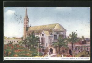 Künstler-AK Zanzibar, Christ Church Cathedral on the Site of the Old Slave Market