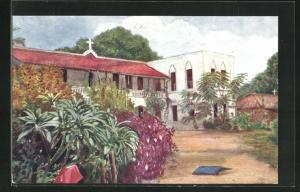 Künstler-AK Zanzibar, Little Boys` Home