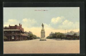 AK Bulawayo, Main Street, Denkmal in der Hauptstrasse