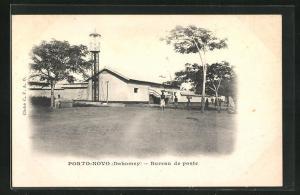 AK Porto-Novo, Bureau de poste, Postgebäude
