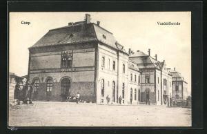 AK Casp, Vasútállomás, Bahnhof