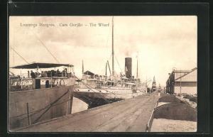 AK Lourenco Marques, The Wharf, Dampferanlegestelle