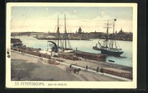AK St. Petersburg, Nikolauskai mit Segelschiffen