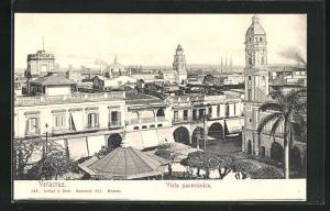 AK Veracruz, Vista panorammica, Häuser und Kirchen