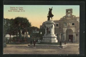 AK Santo Dominigo, Estatua de Colon