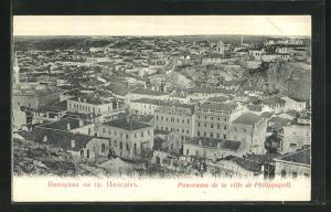 AK Philippopoli, Ortsansicht über Häuser und Umgebung