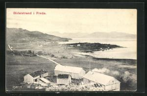 AK Fredö, Birkestrand, Blick auf Häuser und Küste