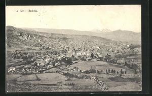 AK La Paz, Blick auf Stadt und Umgebung