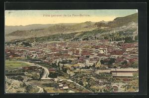 AK La Paz, Vista general, Panoramablick auf die Stadt