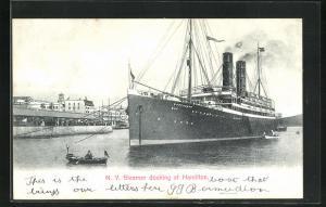AK Hamilton, Docking N. Y. Steamer