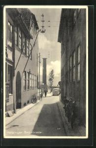 AK Helsingör, Brostraede, Blick auf Denkmal