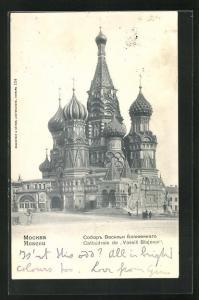 AK Moscou, Cathedrale de Vassili Blajenoi