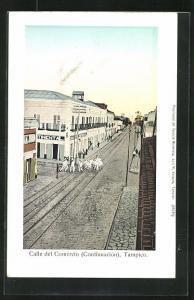 AK Tampico, Calle del Comercio, Eisenbahngleise