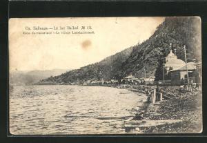 AK Listvianitchnoé, Ortsansicht am Baikalsee