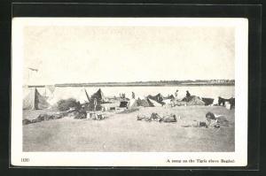 AK Bagdad, A camp on the Tigris