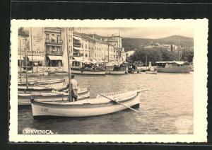 AK Crikvenica, Teilansicht am Hafen