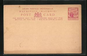 AK Mauritius, Postkarte der Insel als Ganzsache