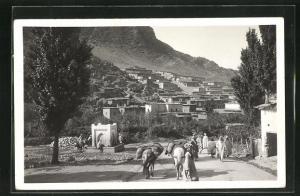 AK Azrou, Le village et la Fontaine
