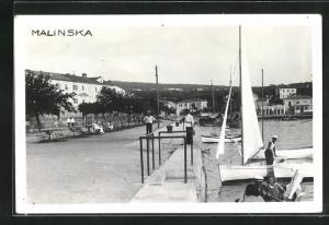 AK Malinska, Teilansicht mit Hafen