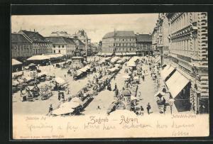 AK Zagreb-Agram, Jellachich Platz