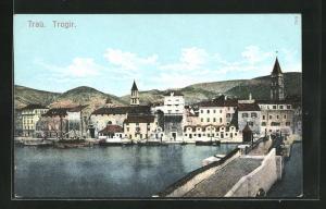AK Trogir-Trau, Ortsansicht mit Kirchen