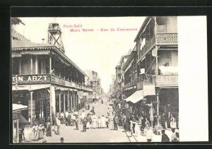 AK Port-Said, Main Street-Rue du Commerce