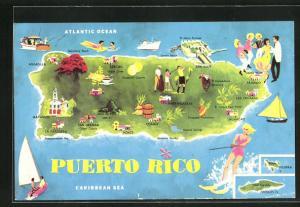 AK Puerto Rico, Geographische Karte