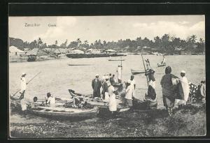 AK Zanzibar, Creek, Fischer mit Booten
