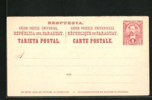 AK Paraguay, Postkarte als Ganzsache
