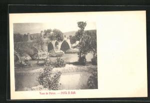 AK Poul e Sar, Vues de Perse, Blick auf Fluss und Steinbrücke