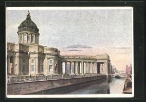 Künstler-AK Leningrad, Blick zur Isaakskathedrale