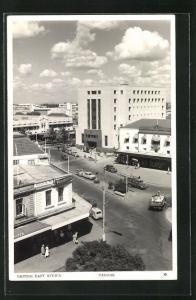 AK Nairobi, Strassenblick mit Kaufhaus Woolworths