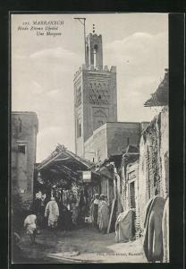 AK Marrakesch, Riade Zitoun Djedid, une Mosquee