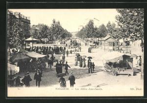 AK Toulouse, Les Allees Jean-Jaures