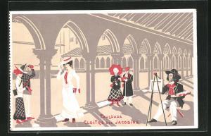Künstler-AK Toulouse, Cloitre des Jacobins