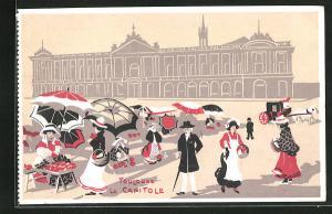 Künstler-AK Toulouse, Le Capitole