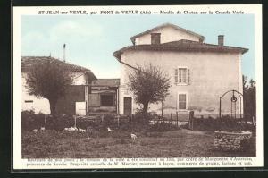 AK St-Jean-sur-Veyle, Moulin de Chatan sur la Grande Veyle