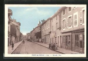 AK Pont-de-Veyle, Grande Rue, Strassenpartie