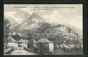 AK Chateauroux-les-Alpes, A droite, le Village de Saint-Marcellin