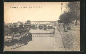 AK Libourne, Le Quai de l`Isle et les Ponts de fer