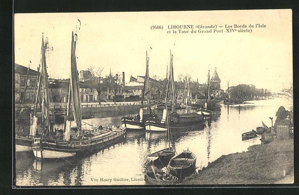 AK Libourne, Les Bords de l`Isle et la Tour du Grand Port 0