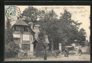 AK Bagnoles-de-l'Orne, Entree et Villa de l'Hippodrome